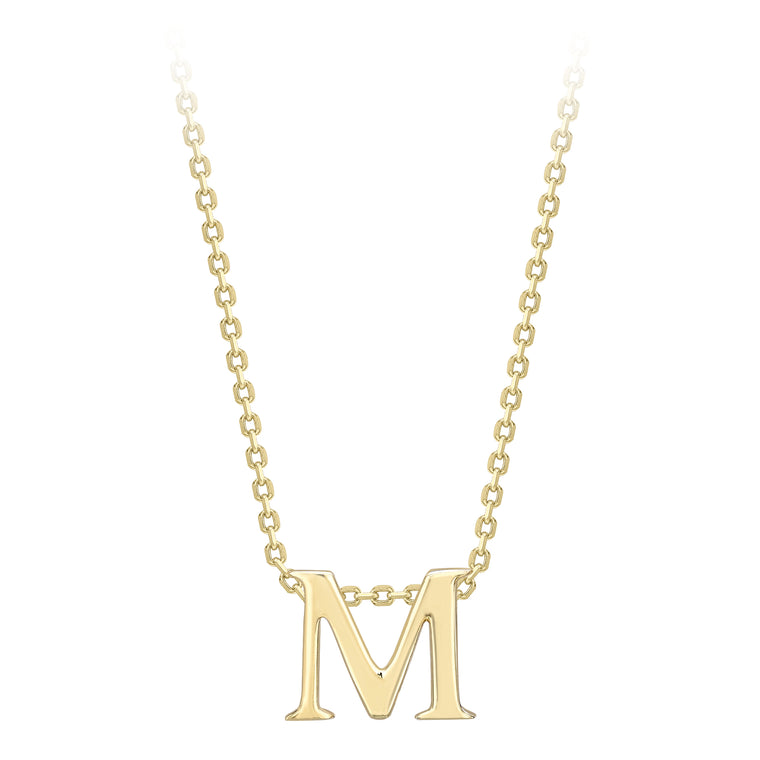 9ct Gold Initial M Necklace