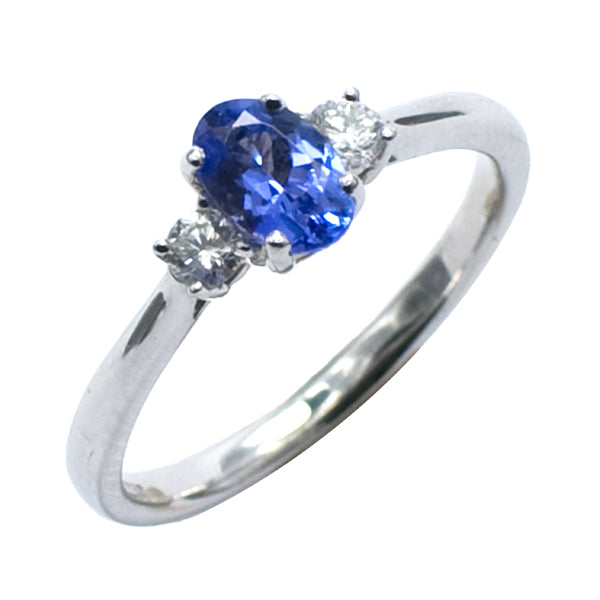 18ct Gold Tanzanite & Diamond Ring