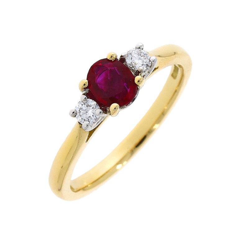 18ct Ruby & Diamond Ring