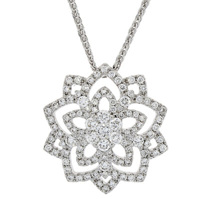 18ct White Gold Diamond Necklace