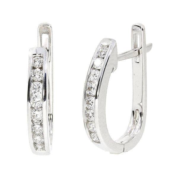 18ct Diamond Hoop Earrings