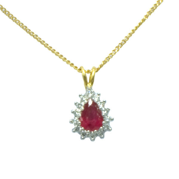 18ct Ruby & Diamond Necklace