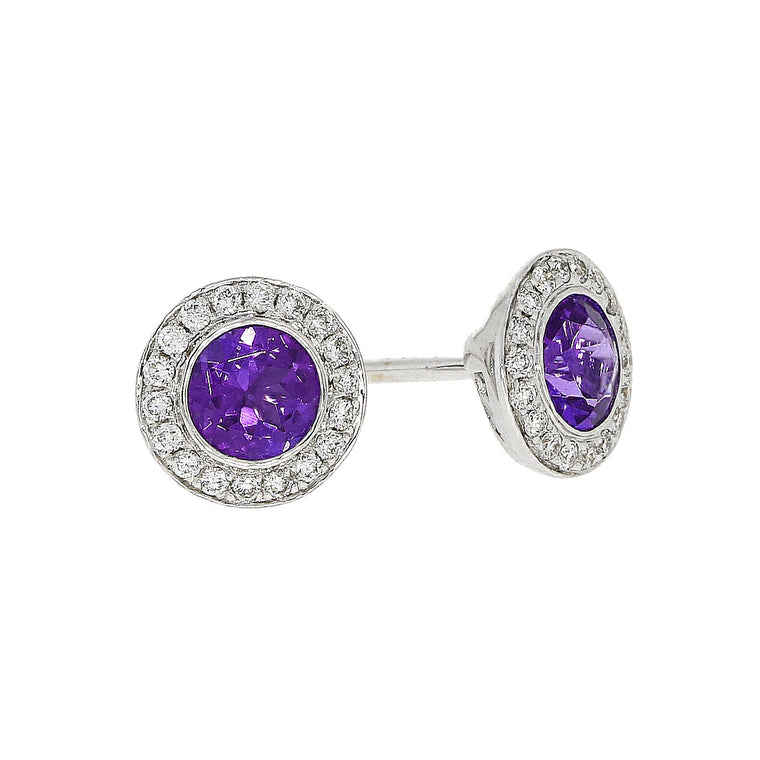 18ct Tanzanite & Diamond Earrings