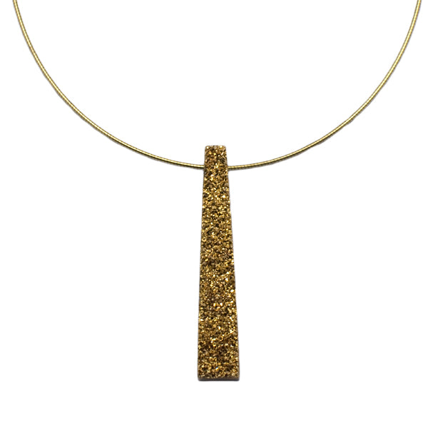 9ct Gold Druzy Necklace
