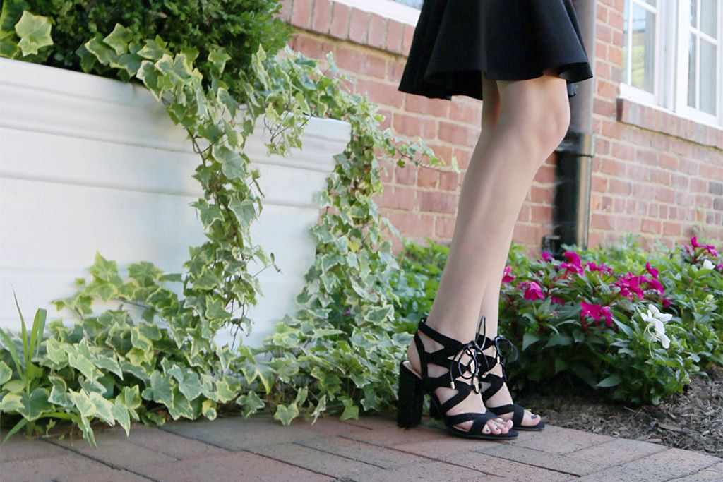 We're in love with the lace-up trend! Check out Madeline's latest style, the Brunette - lace-up pumps that are the right combination of sweet and sassy.