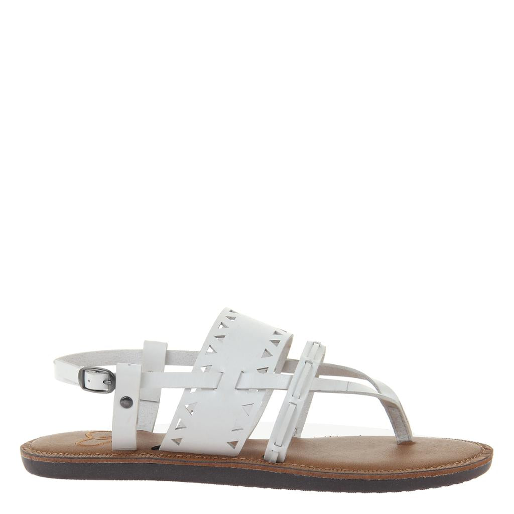 be8ac6395 Bon Bon in White Flat Sandals