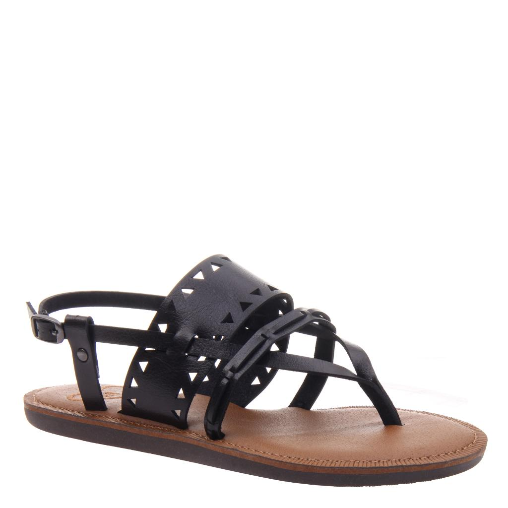 8530a3a3bd57 Bon Bon in Black Flat Sandals