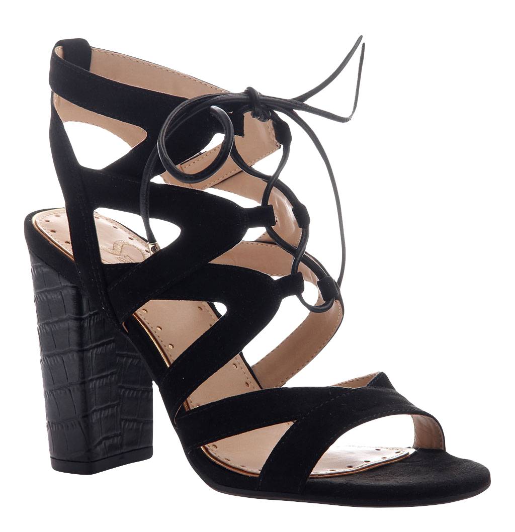 aeee18a4d6735c Brunette in Black Heeled Sandals