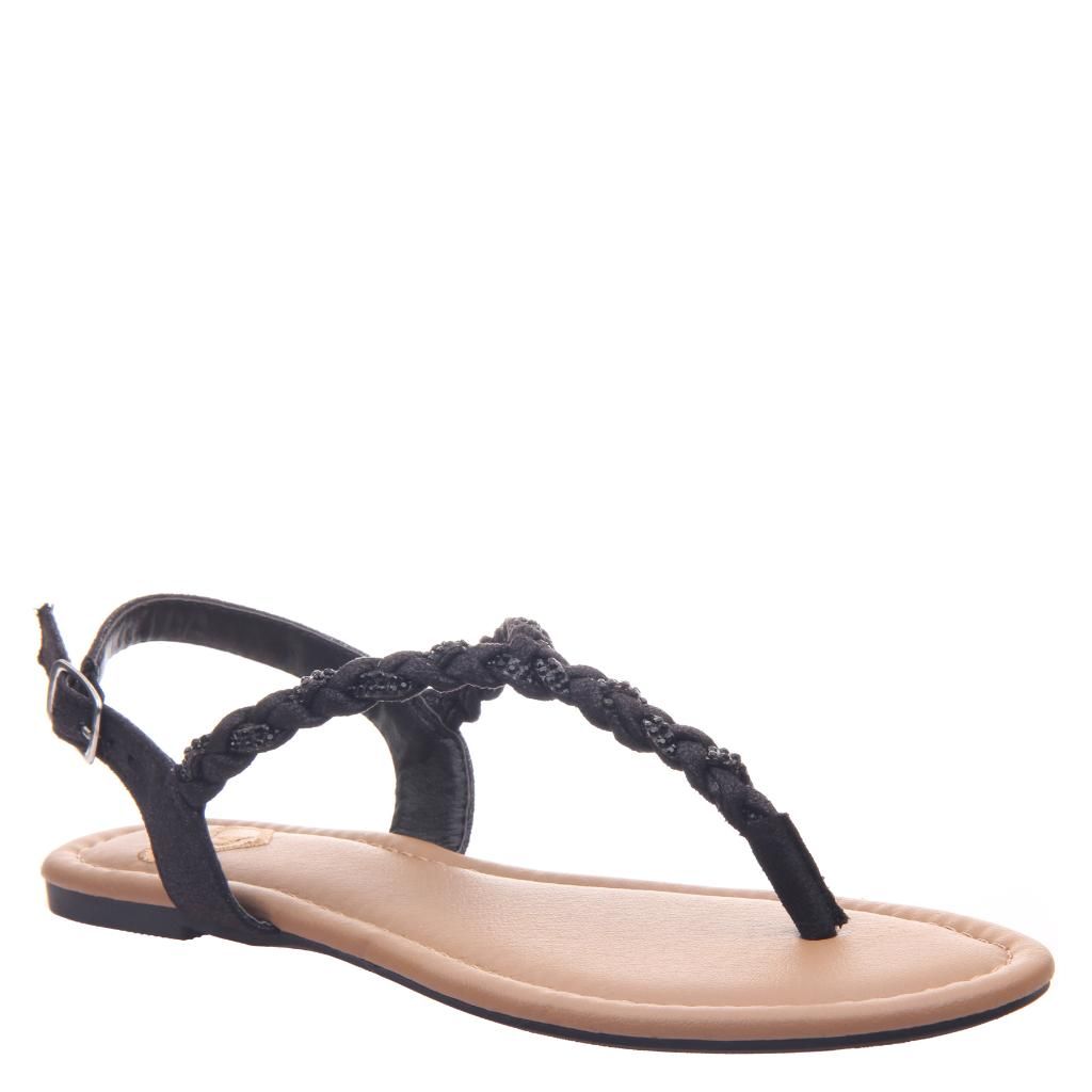 Charge in Black Flat Sandals | Women's