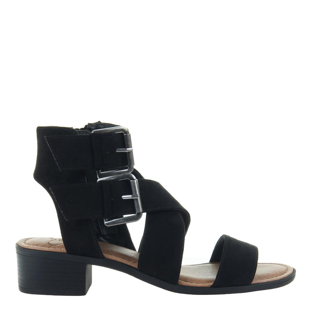 b3556b4544a On Holiday in Black Heeled Sandals