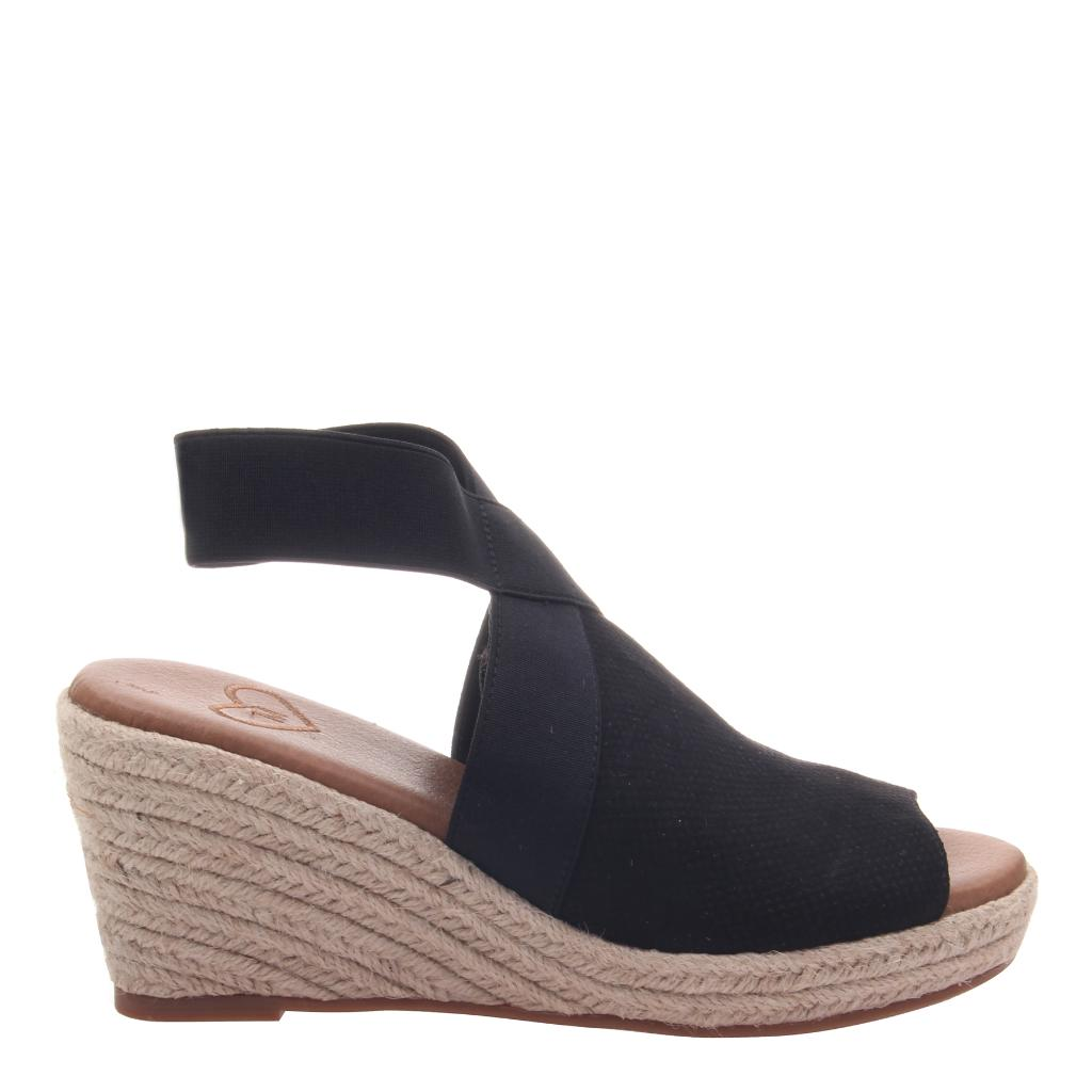 40195a16906 Sunny Day in Black Wedge Sandals