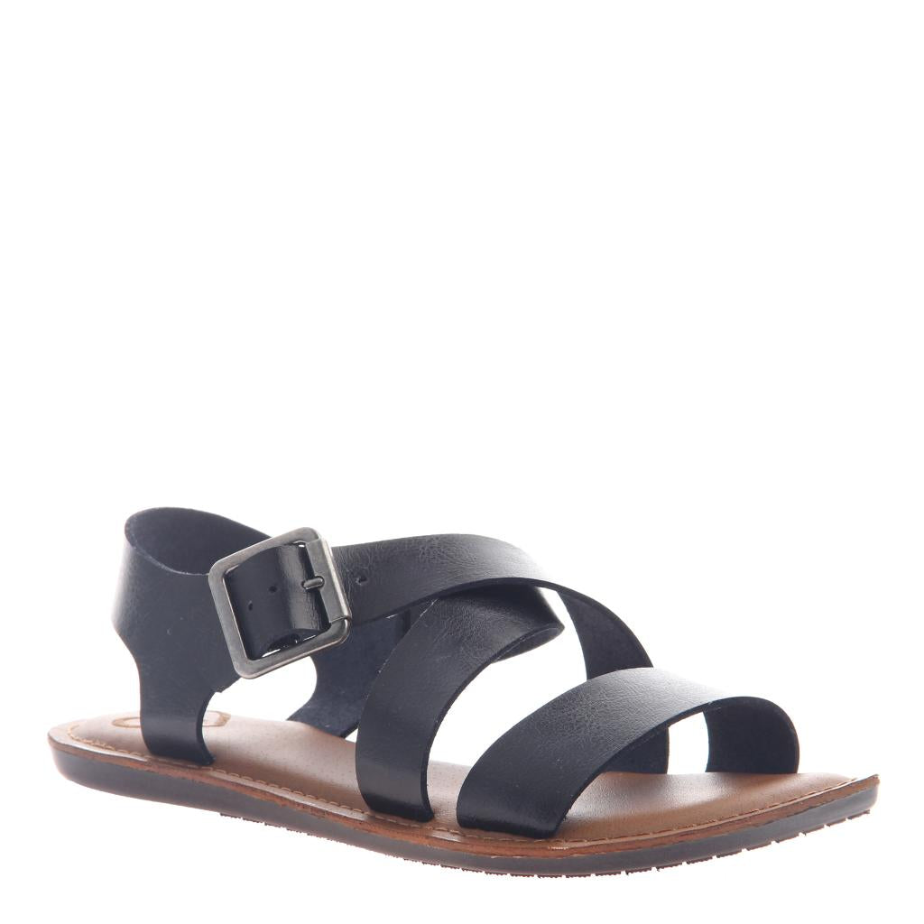 f2abb1f67c35 Sunshine in Black Flat Sandals