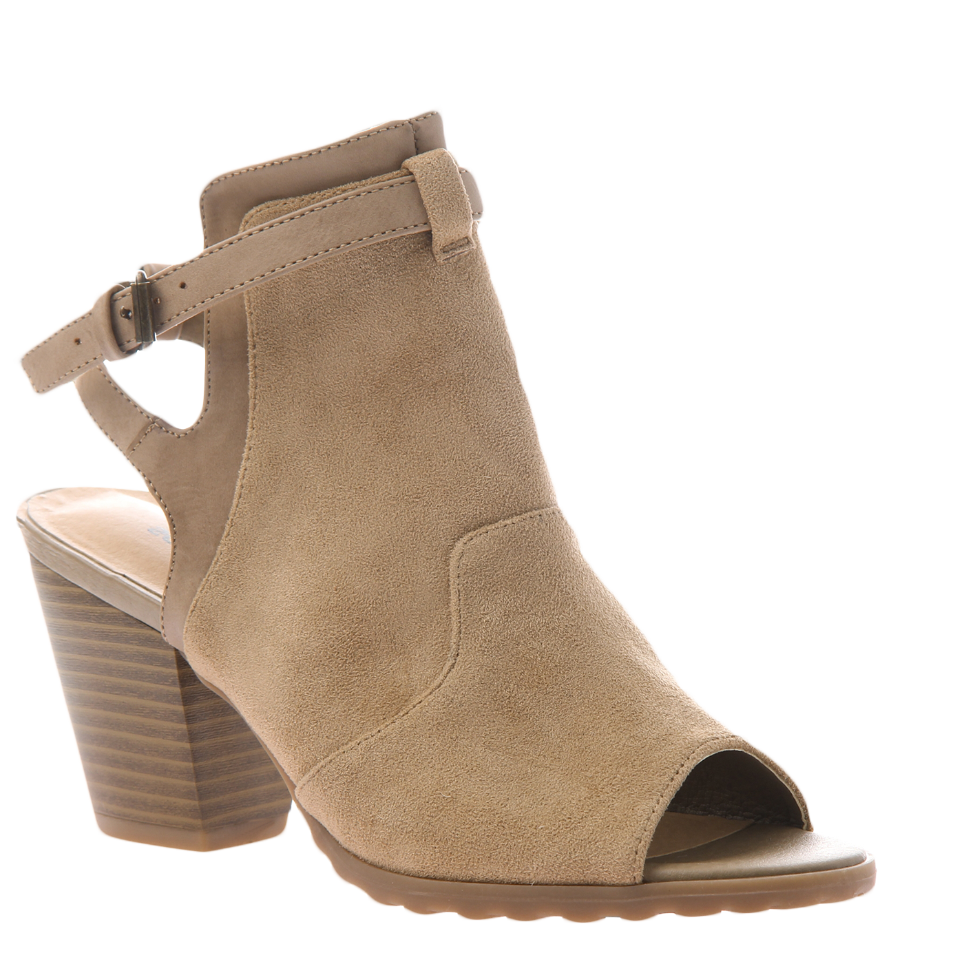 0aa72d40baeb4 Western in New Taupe Open Toe Booties