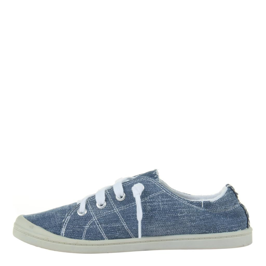 JELLY BEAN in BLUE DENIM, left view