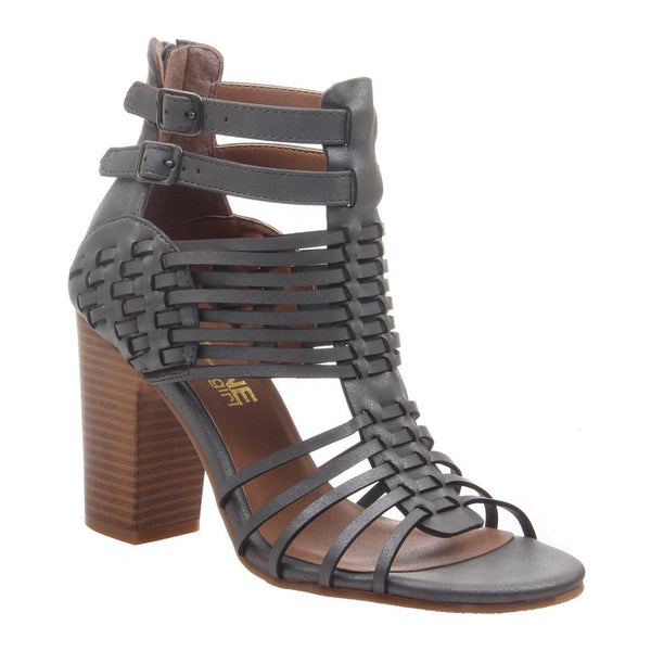 bec01854833 Kween in Dark Grey Heeled Sandals