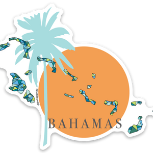 "4"" We Stand With The Bahamas Vinyl Sticker"