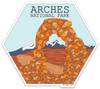 "4"" Arches National Park Vinyl Sticker"