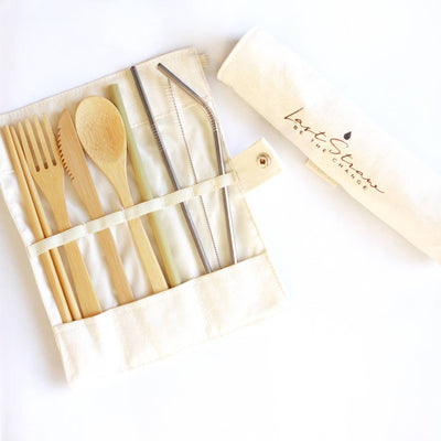 Eco-friendly Bamboo & Stainless Utensil Straw Set