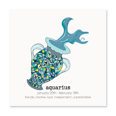 Aquarius - Greeting Card