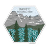 "4"" Banff National Park Vinyl Sticker"