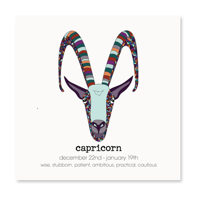 Capricorn - Greeting Card