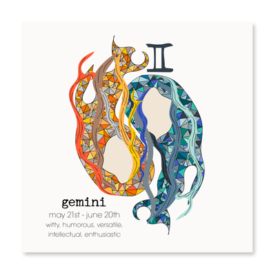 Gemini - Greeting Card