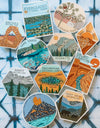 Set of 4 National Park Sticker Set