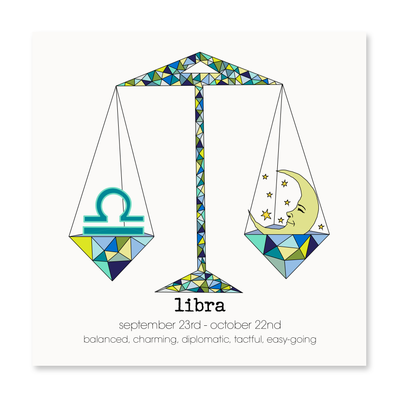 Libra - Greeting Card