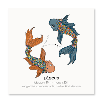 Pisces - Greeting Card