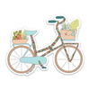 "4"" Tropicalia Bicycle Vinyl Sticker"