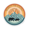 "4"" Respect The Locals - Mountain Vinyl Sticker"