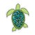 "4"" Sea Turtle Vinyl Sticker"