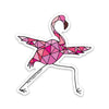 "3"" Yoga Flamingo Vinyl Sticker"