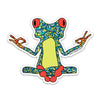 "3"" Yoga Frog Vinyl Sticker"