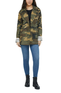 KORIE - Washed Camo Blazer