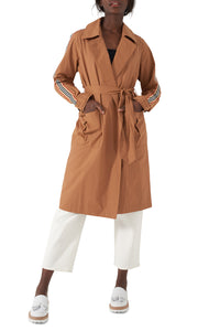 AVA - Stripe Sleeve Trench Coat