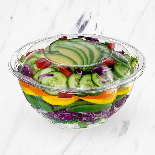 disposable plastic salad containers with lids