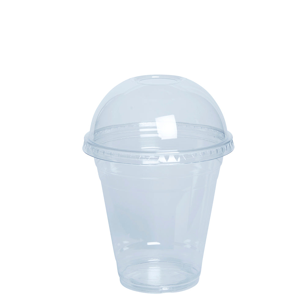 12 oz. Plastic Cups with dome Lids - Comfy Package