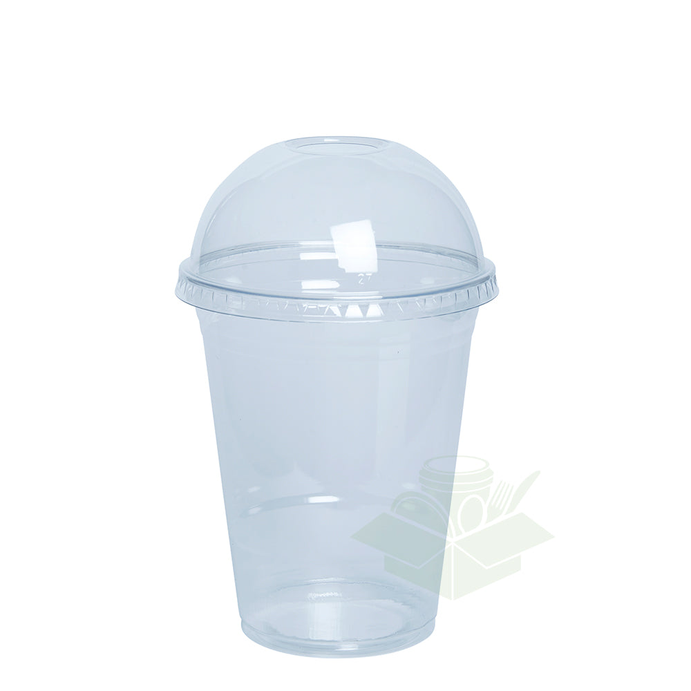 16 oz. Clear Plastic Cups with Dome Lids - Comfy Package