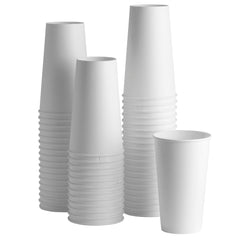 20 oz. White Paper Hot Cups - Comfy Package