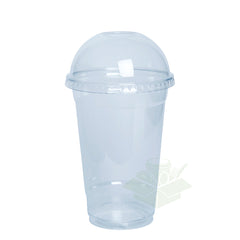 20 oz. Clear Plastic Cups with Dome Lids