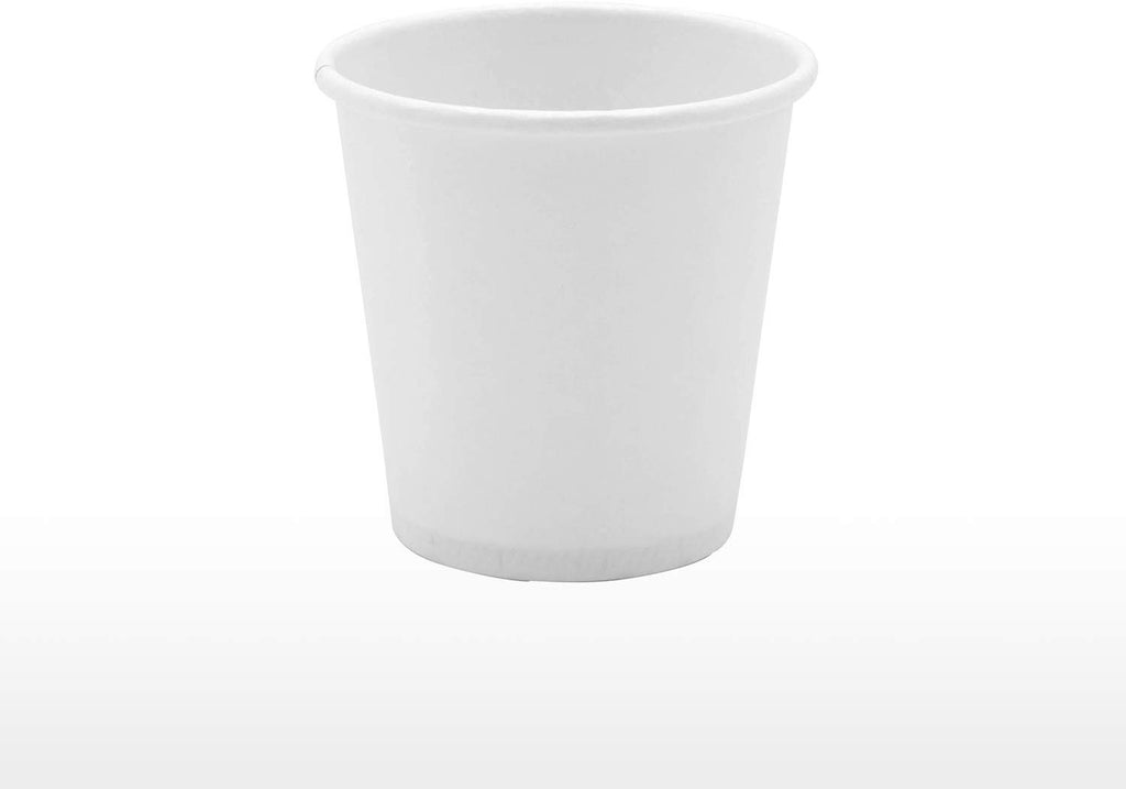 [300 Pack] 3 oz. White Paper Cups, Small Disposable Bathroom, Espresso, Mouthwash Cups - Comfy Package