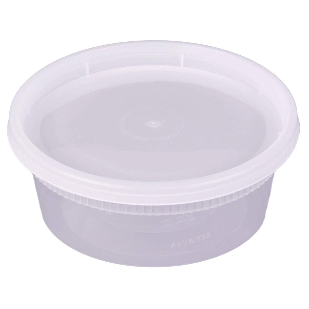 8 oz. Deli Food Storage Containers With Airtight Lids - Slime Containers - Comfy Package