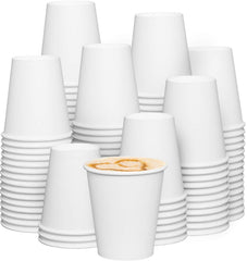 10 oz. (Squat) White Paper Hot Cups