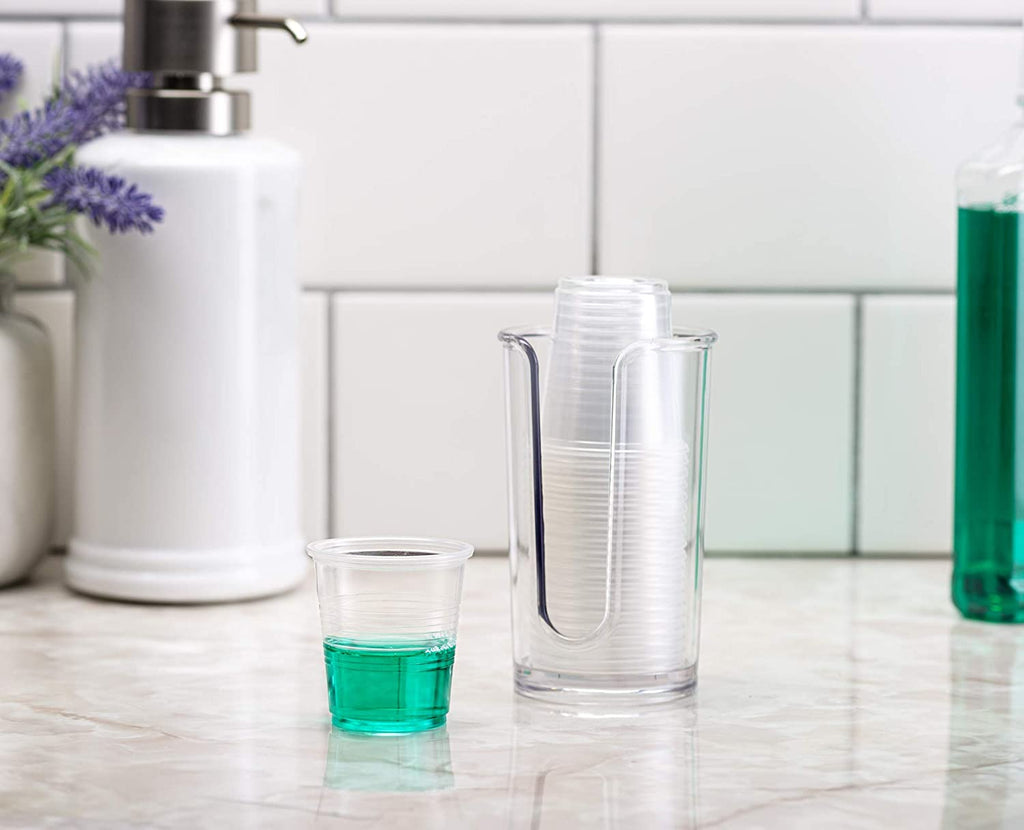 3 oz. Clear Plastic Cups, Small Disposable Bathroom, Espresso, Mouthwash Cups
