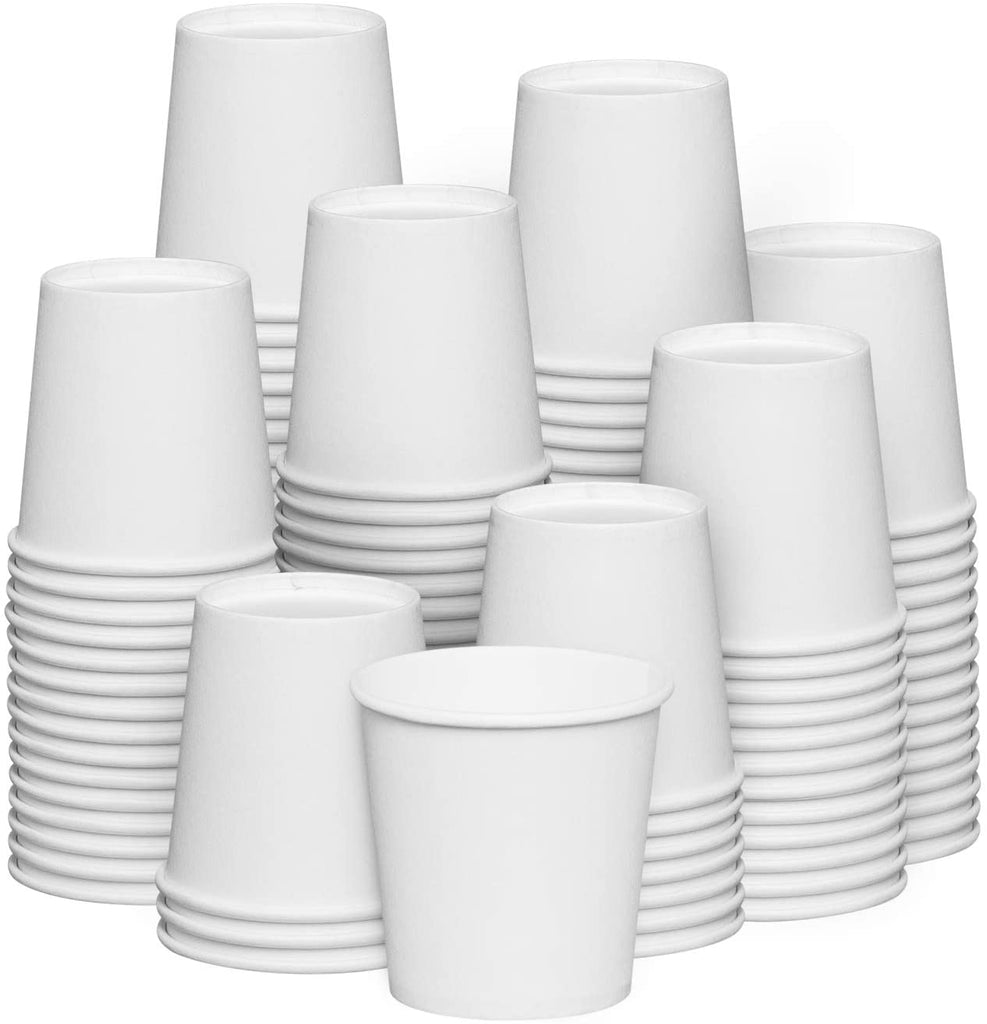 4 oz. White Paper Cups, Small Disposable Bathroom, Espresso, Mouthwash Cups
