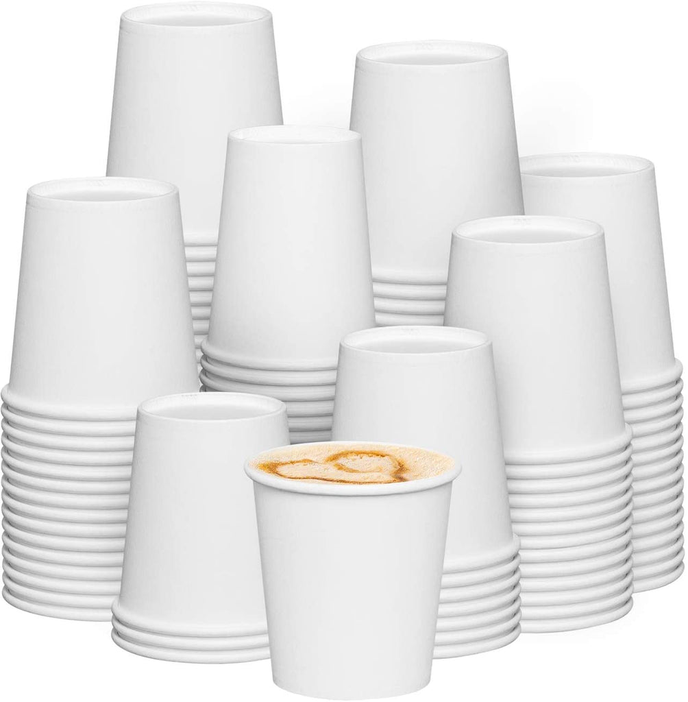 6 oz. White Paper Hot Coffee Cups