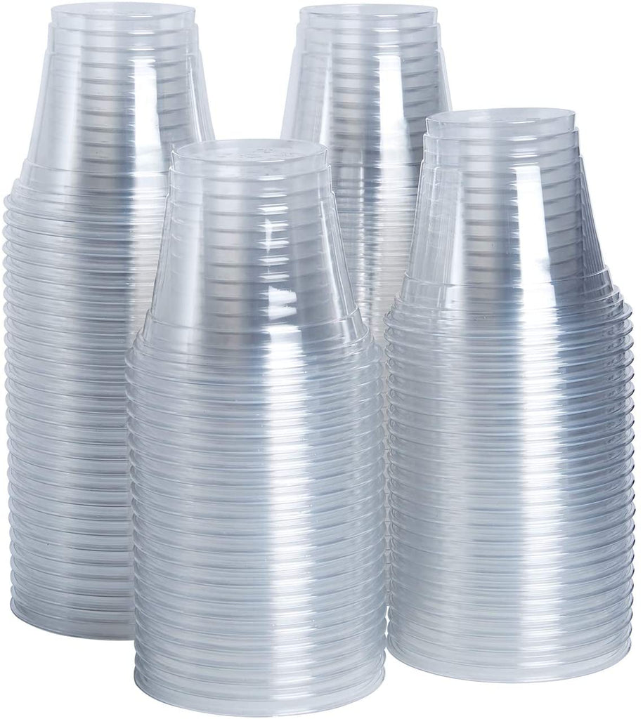 9 oz. Clear Plastic Cups Plastic Tumblers, Party Cups