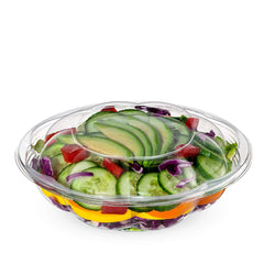 18 oz. Plastic Salad Bowls To Go With Airtight Lids - Comfy Package