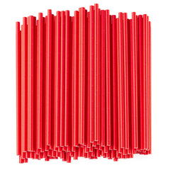 Paper Drinking Straws - Individually Paper Wrapped - 100% Biodegradable - Red - Comfy Package